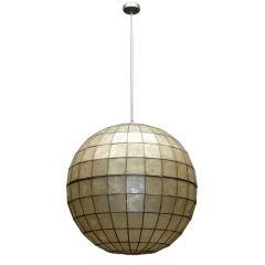 Spherical capiz shell pendant