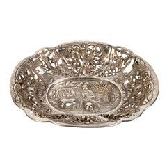 A silver tray by E. F. Caldwell