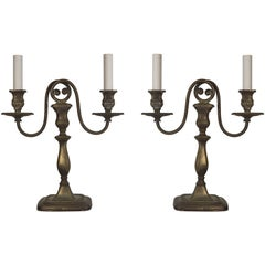 A pair of silverplate candelabra by E. F. Caldwell