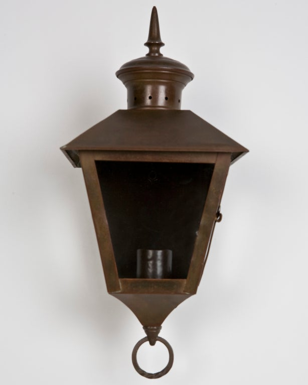 Wall Copper Lantern : Pair of Exterior Copper Wall Lanterns at 1stdibs