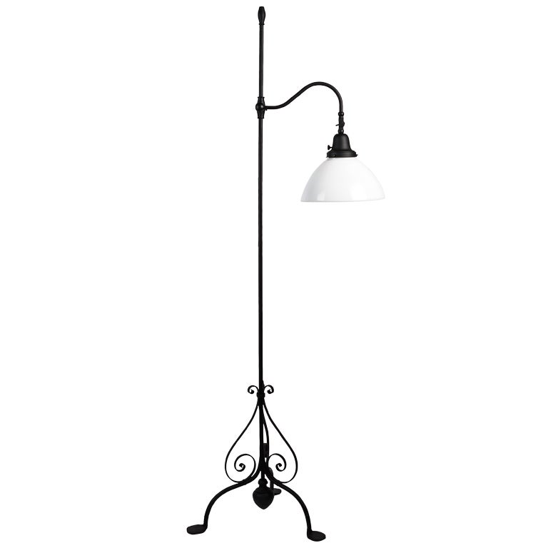 wrought iron floor lamp at 1stdibs. Black Bedroom Furniture Sets. Home Design Ideas