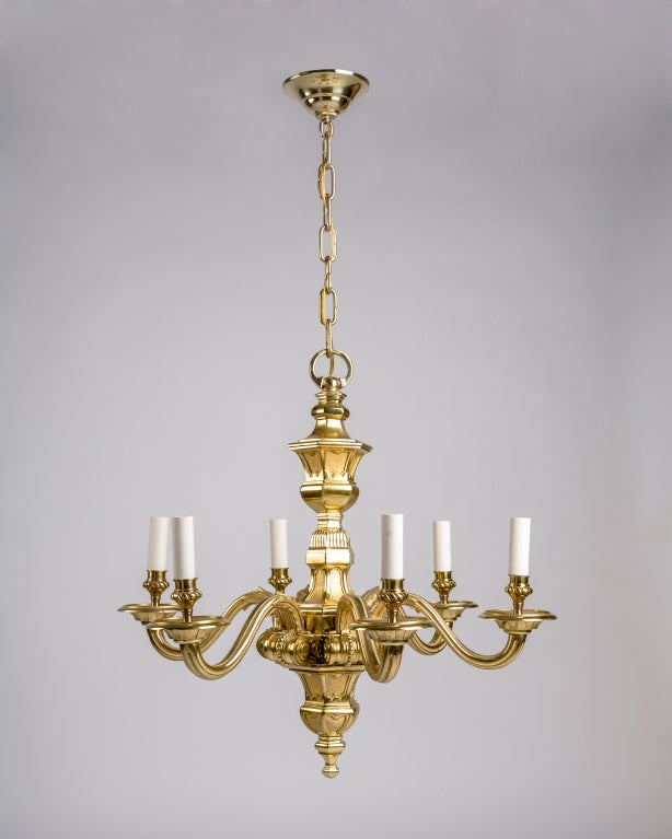 Current Obsession Lantern Chandeliers: A Six-light Solid Brass Chandelier At 1stdibs