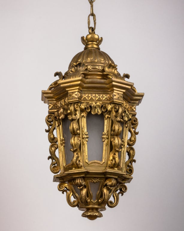 An Ornate Gilt Bronze Lantern image 2