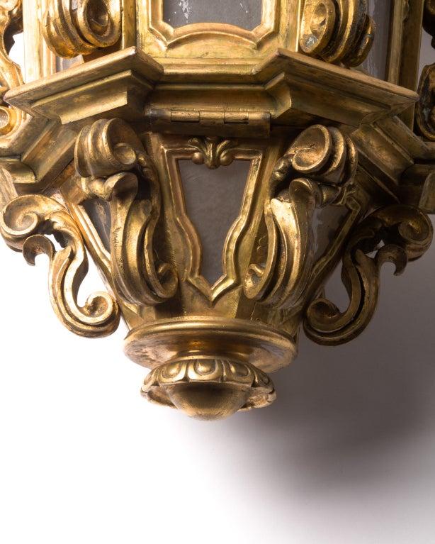An Ornate Gilt Bronze Lantern image 4