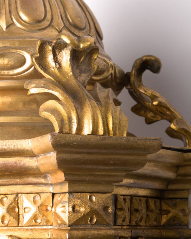 An Ornate Gilt Bronze Lantern image 5