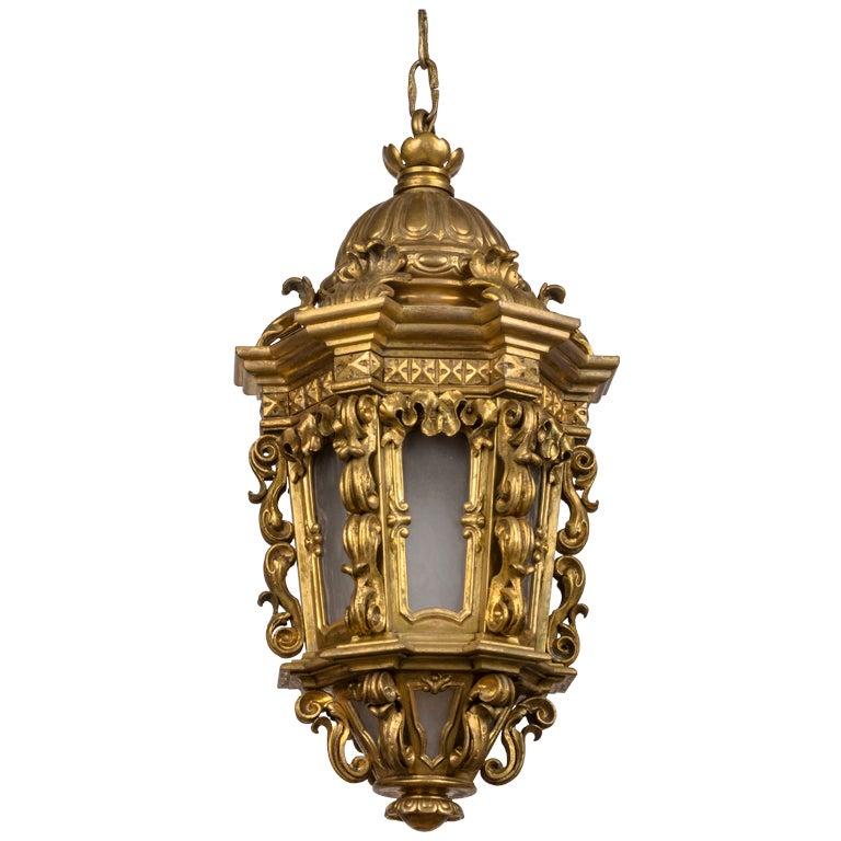 An Ornate Gilt Bronze Lantern