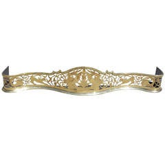 English Serpentine Brass Fender