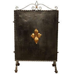 Decorative Iron Firescreen
