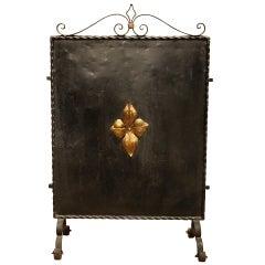 Decorative Iron Firescreen