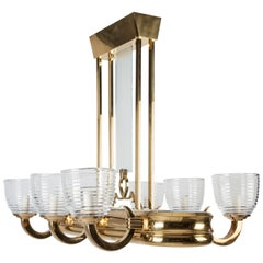 Art Deco Linear Chandelier