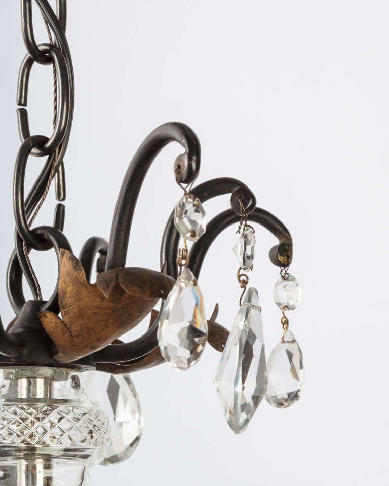 American A Four-light Crystal Chandelier