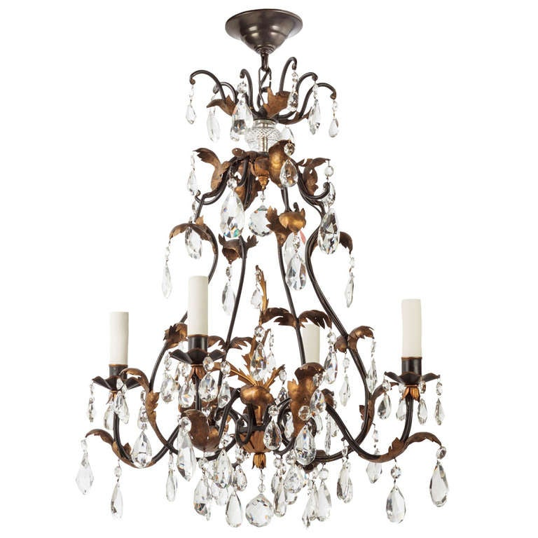 A Four Light Crystal Chandelier For Sale At 1stdibs