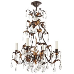 A Four-light Crystal Chandelier