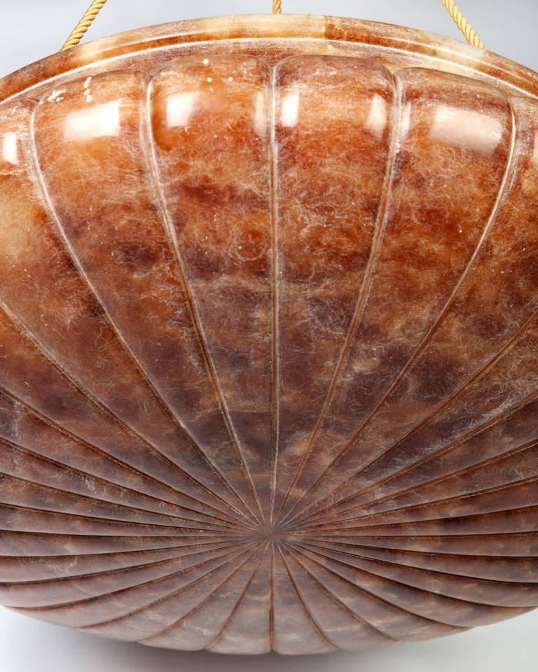 Red Alabaster Stone : Red alabaster chandelier at stdibs