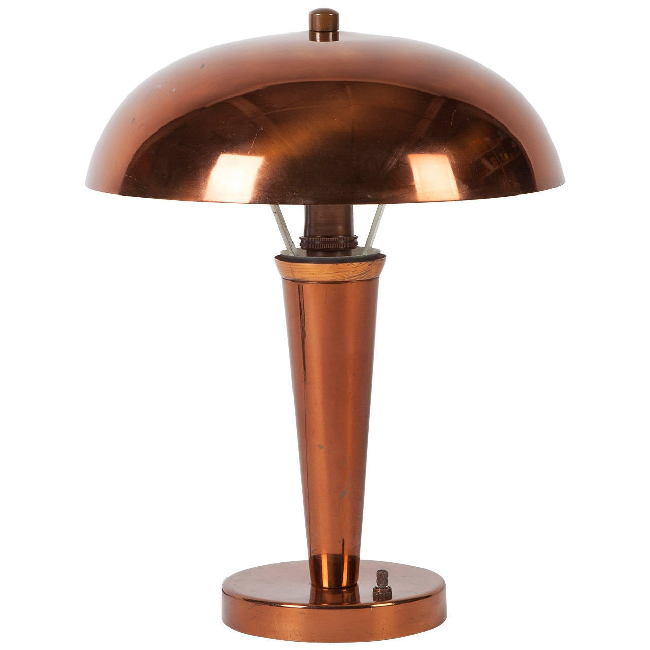 Aged Copper Table Lamp At 1stdibs