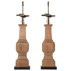 Italian Cerused Oak Lamps