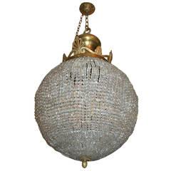 Large Neoclassic Crystal Lantern
