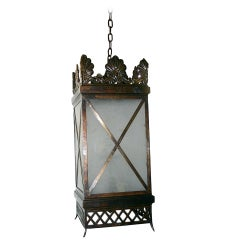 Pair of Large Square Lanterns