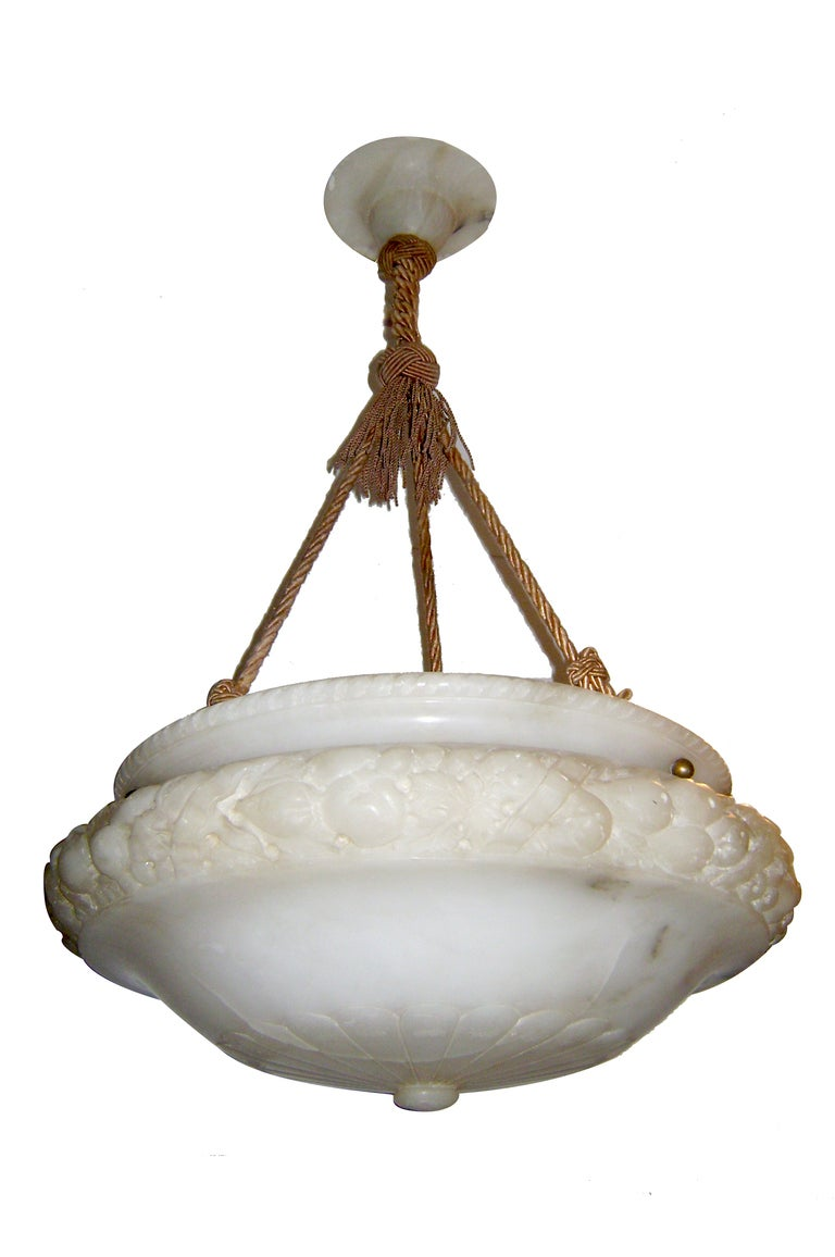 Neo classic alabaster light fixture for sale at 1stdibs neo classic alabaster light fixture for sale arubaitofo Choice Image