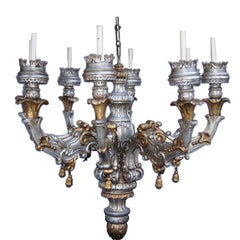 Large Wooden Chandelier
