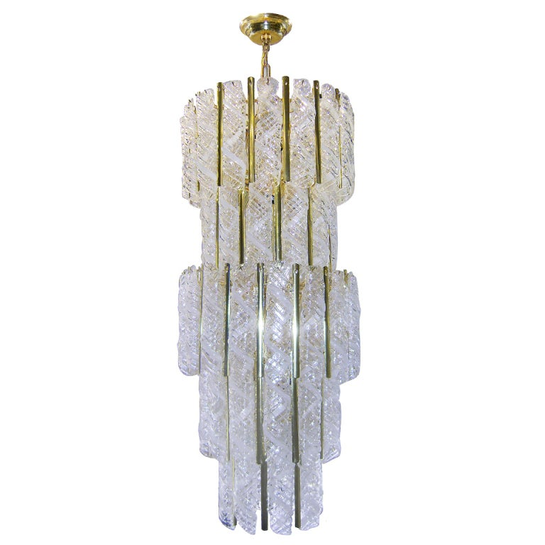 Italian blown glass chandelier at 1stdibs Blown glass chandelier
