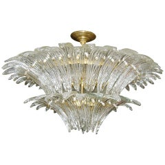 Moderne Molded Glass Light Fixture