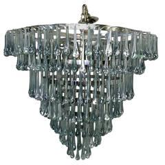 Italian Glass Drops Light Fixture