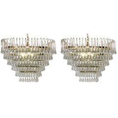 Pair of Oval Light Fixtures