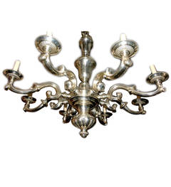 Silver Plated 8-Arm Chandelier