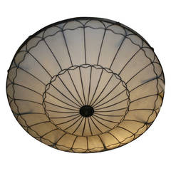 Large Leaded Glass Fixture