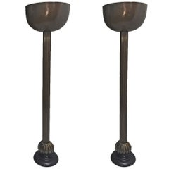 Pair of Bronze Floor Lamps