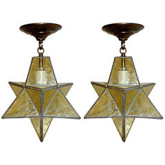 Star Shaped Leaded Glass Fixtures