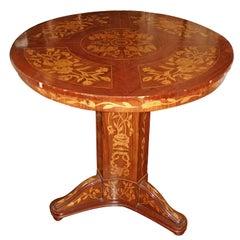 Round Marquetry Top Table
