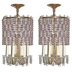 Pair of Amethyst Light Pendants, Sold Individually
