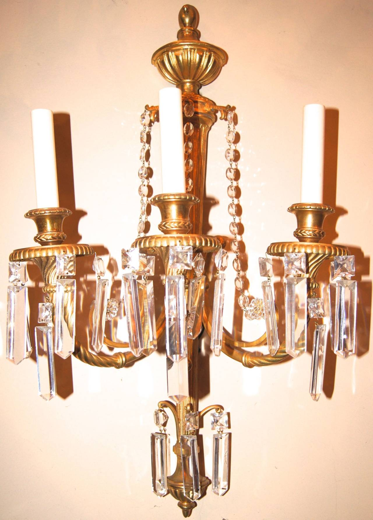 Large Bronze Wall Sconces : Large Gilt Bronze Sconces For Sale at 1stdibs