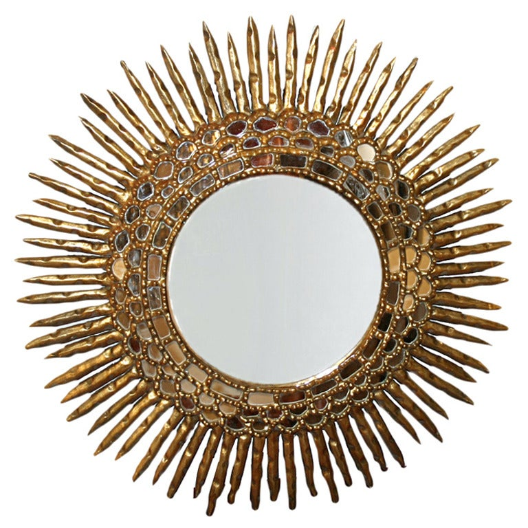 Sunburst Giltwood Mirror