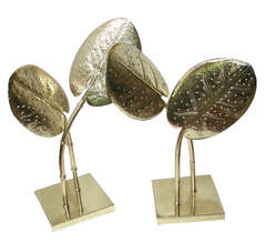 Hammered and Polished Palm Leaf Lamps