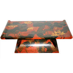 Japanese Painted Coffee Table