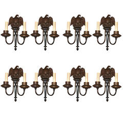 Set of Eight American Empire Style Sconces