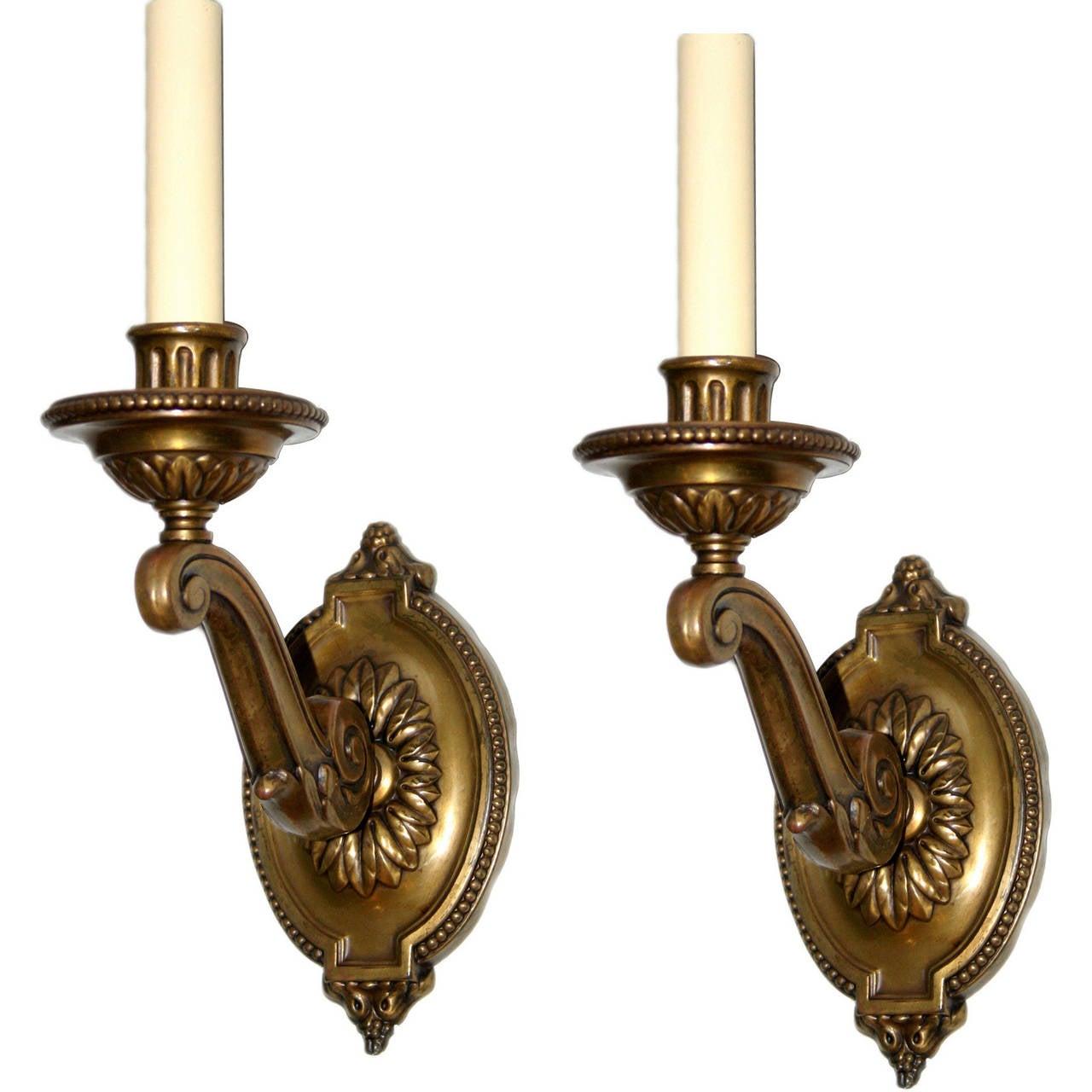 Neoclassic Single Light Sconces