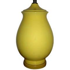 Large Single Yellow Table Lamp