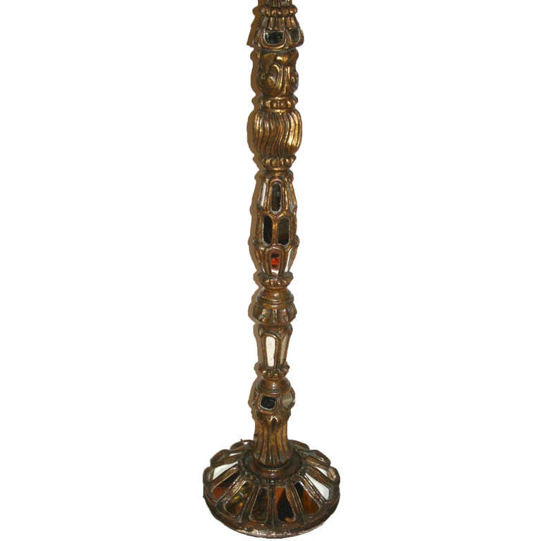 Carved wood floor lamp for sale at 1stdibs for Wooden floor lamp for sale