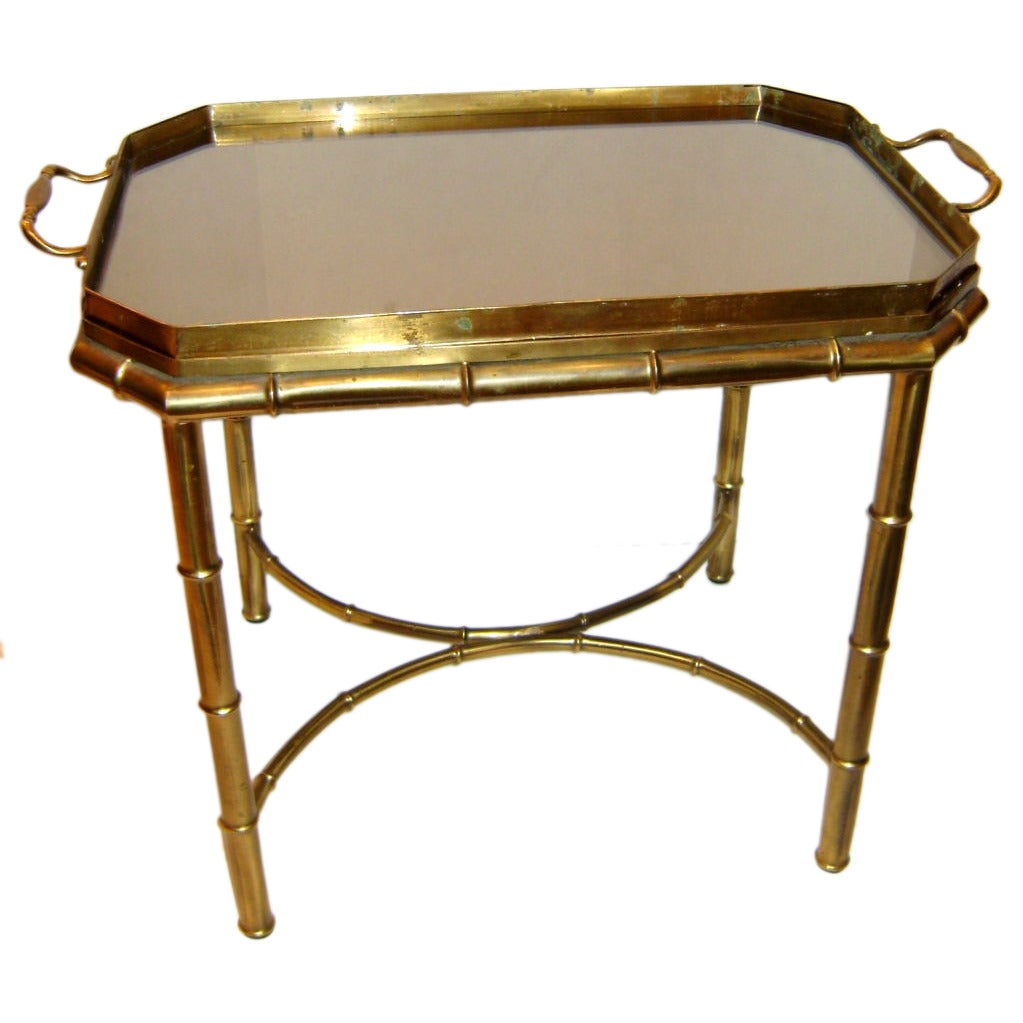 Brass bamboo side table for sale at 1stdibs for Bamboo side table