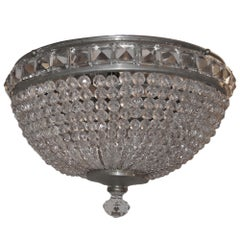 Pair of Crystal Flush Mounted Light Fixture