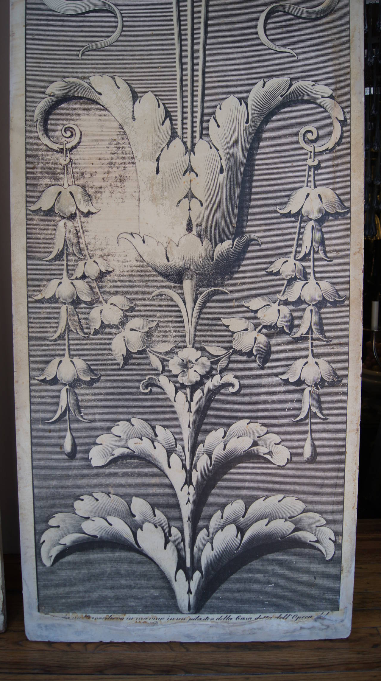 Pair of large architectural drawing wooden panels for sale for Architectural drawings for sale