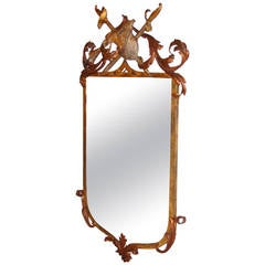 Armorial Gilt Metal Mirror