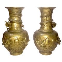 Pair of Chinese Bronze Vases