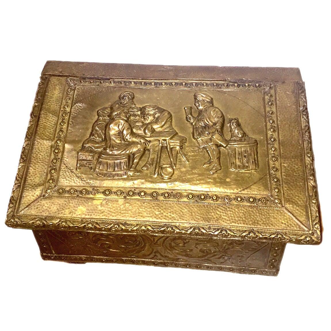 Repoussé Brass Box