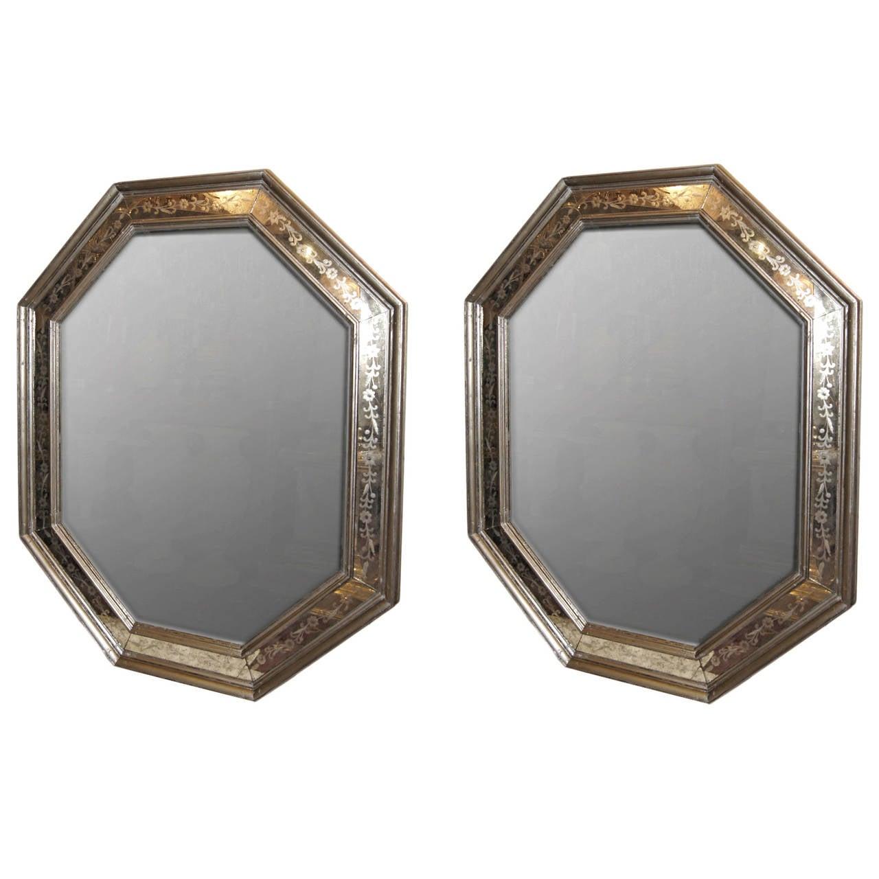 Pair of Venetian Glass Mirrors