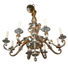 Neoclassic Style Silver Chandelier